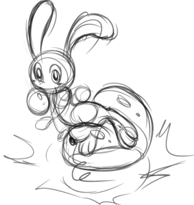 A Catapult Bunny riding on a big balloon. Not sure if training or playing.